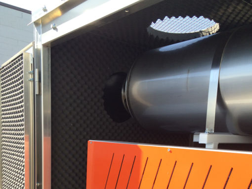 Blower package inside sound enclosure